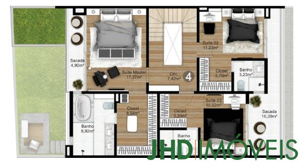Condominio Caete - Casa 3 Dorm, Vila Assunção, Porto Alegre (8214) - Foto 5
