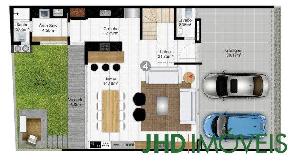 Condominio Caete - Casa 3 Dorm, Vila Assunção, Porto Alegre (8214) - Foto 7