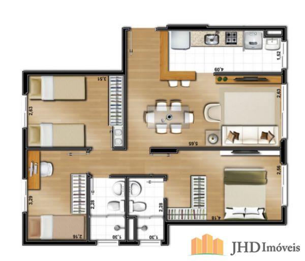 JHD Imóveis - Apto 3 Dorm, Santo Antonio (3829) - Foto 5
