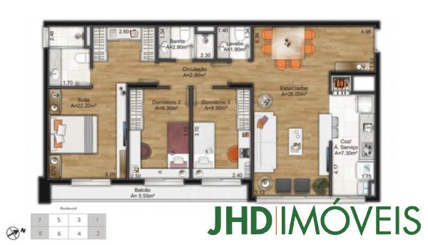 Murano Home/office - Apto 3 Dorm, Cristal, Porto Alegre (5823) - Foto 14