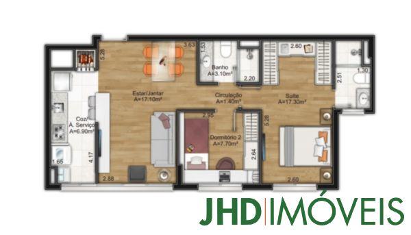 Murano Home/office - Apto 3 Dorm, Cristal, Porto Alegre (5823) - Foto 8