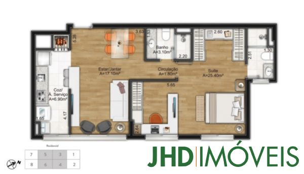 Murano Home/office - Apto 3 Dorm, Cristal, Porto Alegre (5823) - Foto 12